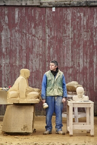 Scultptor Graeme Mitcheson photographed for Scouts Magazine by Alun Callender