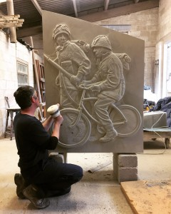 relief carved bike